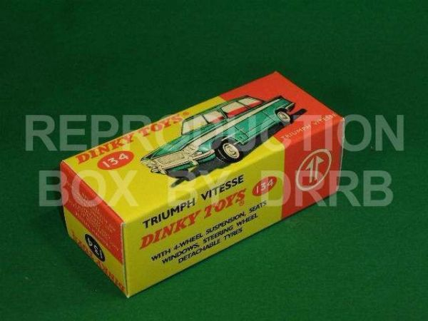 Dinky #134 Triumph Vitesse - Reproduction Box ( Green and White )